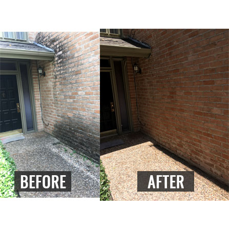 before and after pressure washing service