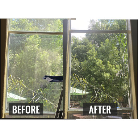 before and after window cleaning service